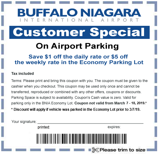 coupon buffalo airport parking